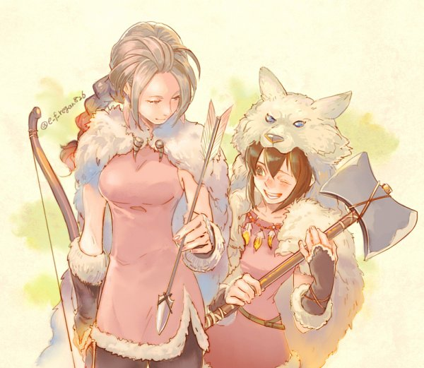 Tags: Anime, Pixiv Id 26132, Octopath Traveler, Tressa Colozone, H'Aanit, Fanart, Fanart From Pixiv, Pixiv
