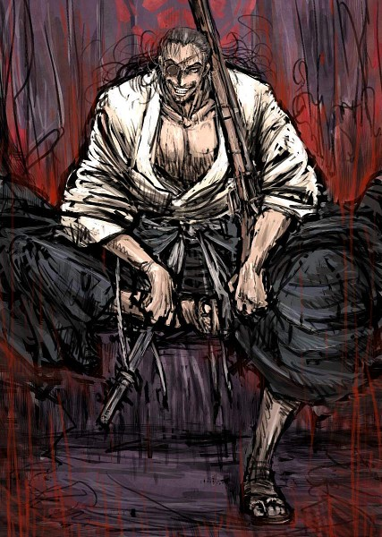 Tags: Anime, Moto Murabito, Drifters (Manga), Oda Nobunaga (Drifters), Tantou, Stubble, Pixiv, Fanart, Fanart From Pixiv