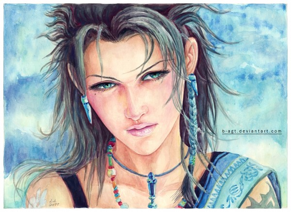 Tags: Anime, B-agt, Final Fantasy XIII, Oerba Yun Fang, Watercolor, deviantART, Traditional Media, Fanart
