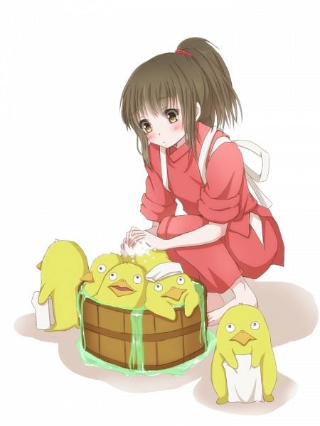 Tags: Anime, Hiro (Hirohiro31), Sen to Chihiro no Kamikakushi, Ogino Chihiro, Chicken Spirit, Pixiv