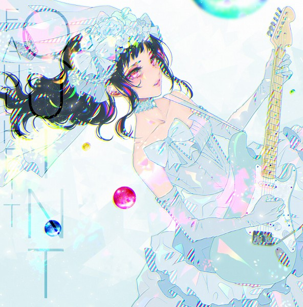Tags: Anime, Ohagi (Ymnky), Playing Guitar, Electric Guitar, Guitar Strap, Original, PNG Conversion, Pixiv