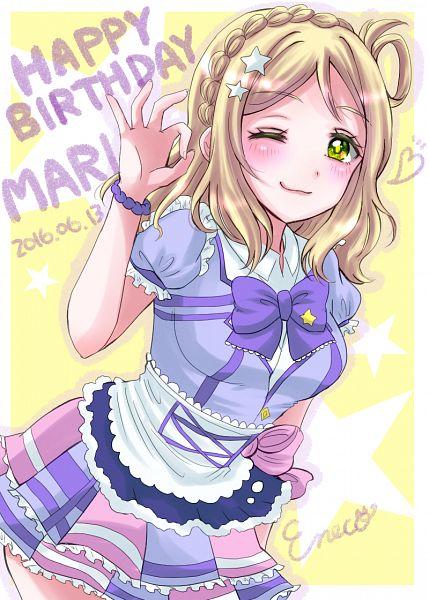 Tags: Anime, Pixiv Id 11913860, Love Live! Sunshine!!, Ohara Mari, Mobile Wallpaper, PNG Conversion, Kimi no Kokoro wa Kagayaiteru kai?, Mari Ohara