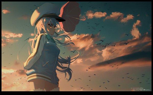 Tags: Anime, Pixiv Id 7091992, Island (VN), Ohara Rinne, Black Bird, Sunrise, Sailor Cap, Morning, Fanart, Fanart From Pixiv, Pixiv