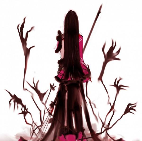 Tags: Anime, @tamori, Sengoku Basara, Oichi (Sengoku Basara), Naginata, Pixiv, Fanart From Pixiv, Fanart