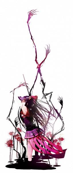 Tags: Anime, Kaoru (かおる), Sengoku Basara, Oichi (Sengoku Basara), Naginata, Chrysanthemum, Pixiv