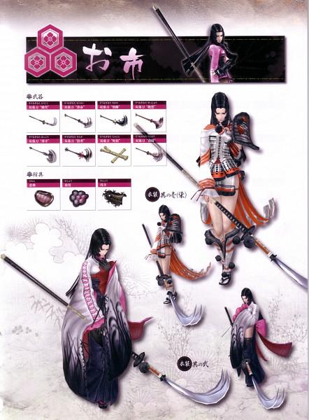 Tags: Anime, Capcom, Sengoku Basara, Oichi (Sengoku Basara), Official Art, Sketch, Scan, 3D