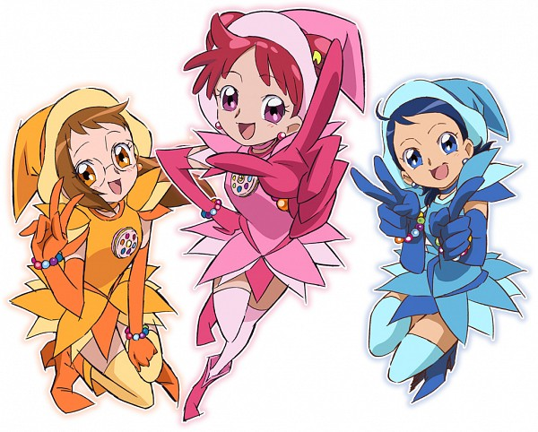 Tags: Anime, Umakoshi Yoshihiko, Ojamajo DoReMi, Ojamajo DoReMi 16, Fujiwara Hazuki, Senoo Aiko, Harukaze Doremi, Dream Spinner, Official Art, PNG Conversion