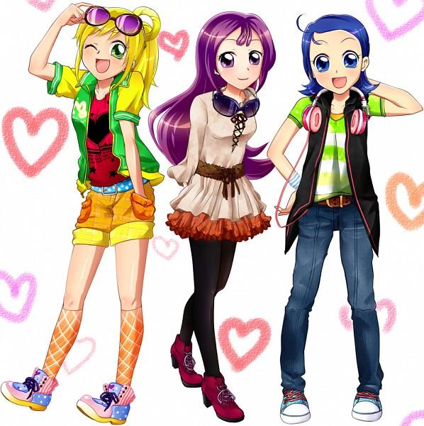 Tags: Anime, Ojamajo DoReMi 16, Ojamajo DoReMi, Asuka Momoko, Segawa Onpu, Senoo Aiko, Artist Request, Fanart