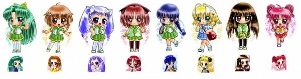 Tags: Anime, Yajin (Artist), Ojamajo DoReMi, Hidaka Kazumi, Wakabayashi Yoko, Komatsugawa Emiko, Yukitani Tsukasa, Kugayama Takami, Shimotsuma Hiyoko, Yabe Shoko, Kiyoto Mika, Fanart, Magical Doremi