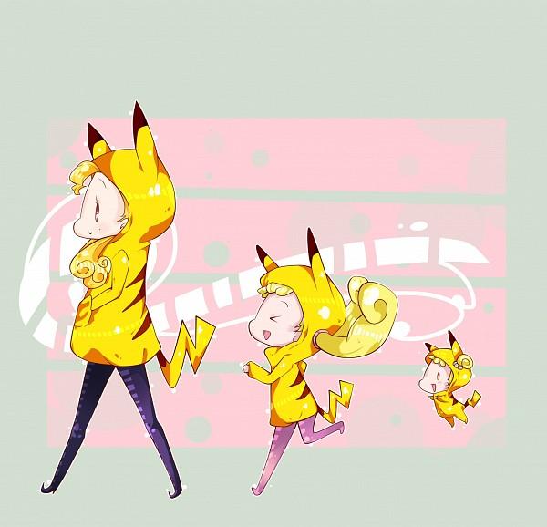Tags: Anime, Kiki (Pixiv3423771), Ojamajo DoReMi, Majo Monroe, Makihatayama Hana, Pikachu (Cosplay), Pokémon (Cosplay), Fanart, deviantART, Magical Doremi