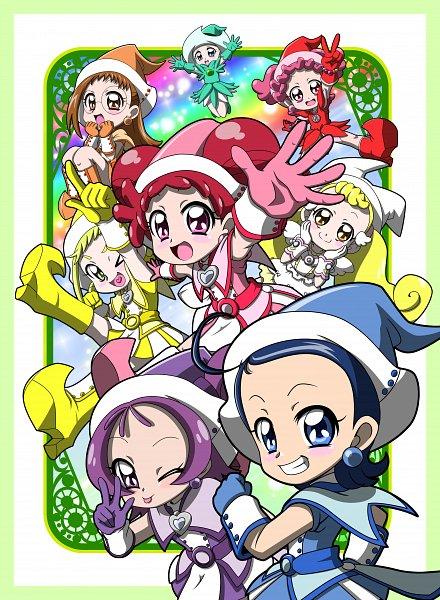 Tags: Anime, MT2Y-Monyo, Ojamajo DoReMi, Segawa Onpu, Fujiwara Hazuki, Waku Nozomi, Makihatayama Hana, Senoo Aiko, Harukaze Pop, Harukaze Doremi, Asuka Momoko, Witch Costume, Fanart, Magical Doremi