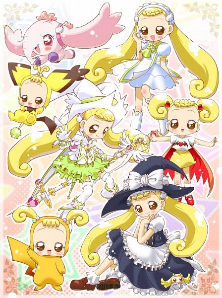 Tags: Anime, Yajin (Artist), Ojamajo DoReMi, ToTo (Ojamajo DoReMi), Makihatayama Hana, Pao (Ojamajo DoReMi), Pikachu (Cosplay), Pichu (Cosplay), Kirisame Marisa (Cosplay), Elephant, Pâtissier Intercom, Pokémon (Cosplay), Touhou (Cosplay), Magical Doremi