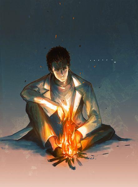 Tags: Anime, Huke, 5pb. (Studio), Steins;Gate, Okabe Rintarou, Campfire, Official Art