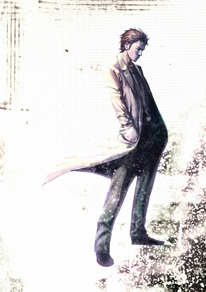 Tags: Anime, Neg, Steins;Gate, Okabe Rintarou, Pixiv, Mobile Wallpaper, Fanart