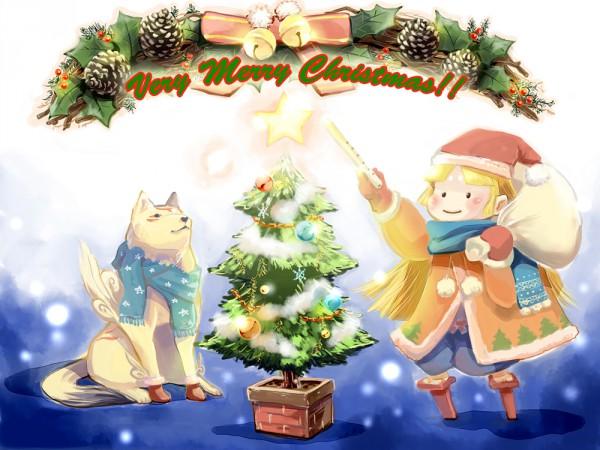Tags: Anime, Yuruya Minimaru, Okami, Amaterasu, Ushiwakamaru (Okami), Pixiv, Fanart From Pixiv, Fanart