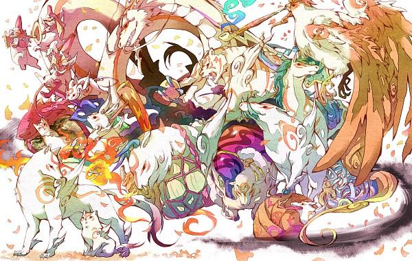 Tags: Anime, Gline, Okami, Okami Den, Kabegami, Yumigami, Moegami, Chibiterasu, Yomigami, Nuregami, Amaterasu, Tachigami, Gekigami