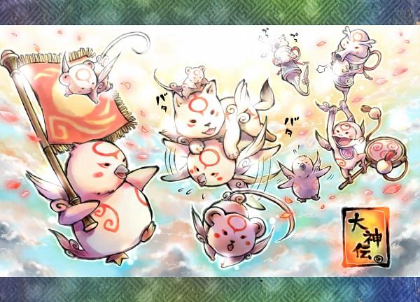 Tags: Anime, Yuruya Minimaru, Okami, Okami Den, Yomigami, Tachigami, Tsutagami, Fanart, Fanart From Pixiv, Pixiv, Hanagami