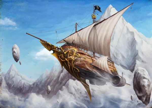 Tags: Anime, Okita, Flying Ship, Pixiv