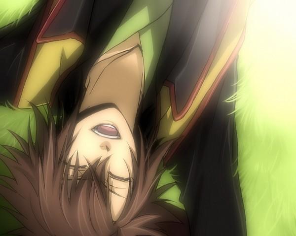 Tags: Anime, Mi-k, Hakuouki Shinsengumi Kitan, Okita Souji (Hakuouki), Laying on Grass, Fanart From Pixiv, PNG Conversion, Fanart, Pixiv