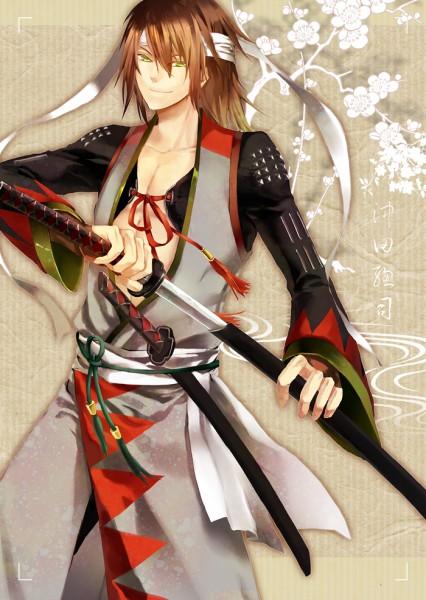 Tags: Anime, Nisoniso, Hakuouki Shinsengumi Kitan, Okita Souji (Hakuouki), Mobile Wallpaper, Fanart, deviantART