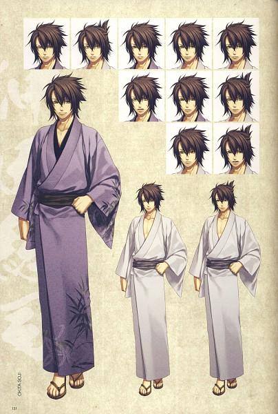 Tags: Anime, Kazuki Yone, IDEA FACTORY, Hakuouki Shinsengumi Kitan, Okita Souji (Hakuouki), Mobile Wallpaper, Expression Chart