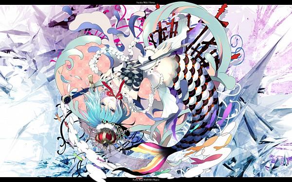 Tags: Anime, Gin (Oyoyo), Hiiragi Ryo, Mahou Shoujo Madoka☆Magica, Oktavia von Seckendorff, Miki Sayaka, Pixiv, Wallpaper, Fanart