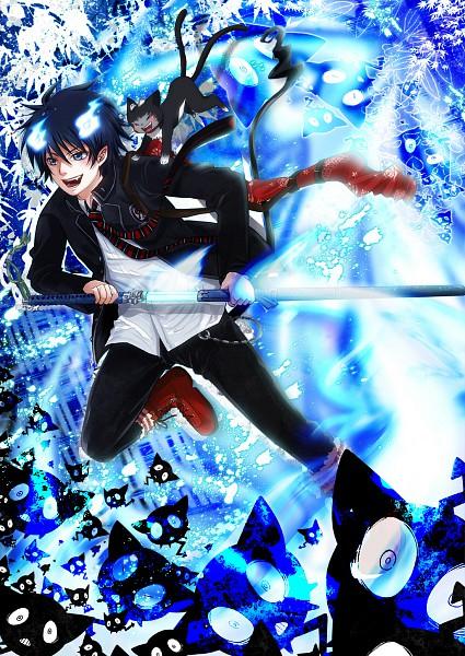 Tags: Anime, Wolf025, Ao no Exorcist, Okumura Rin, Kuro (Ao no Exorcist), Pixiv