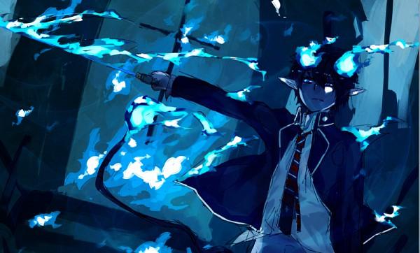 Tags: Anime, Ao no Exorcist, Okumura Rin, Pixiv, Fanart
