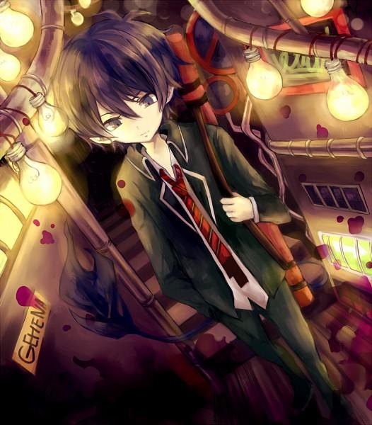 Tags: Anime, Aphginntama, Ao no Exorcist, Okumura Rin, Pixiv, Fanart