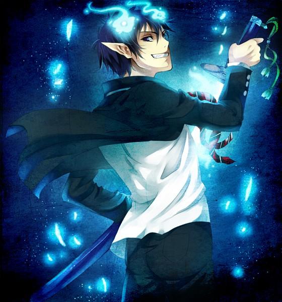 Tags: Anime, Miyuli, Ao no Exorcist, Okumura Rin, Fanart, Pixiv