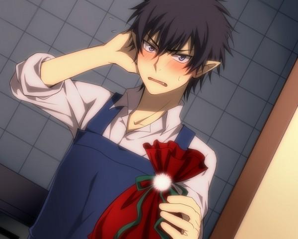 Tags: Anime, Mi-k, Ao no Exorcist, Okumura Rin, Giving, Pixiv, Fanart