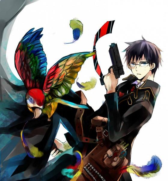 Tags: Anime, Mana Mannha, Ao no Exorcist, Okumura Yukio, Parrot, Pixiv, Fanart