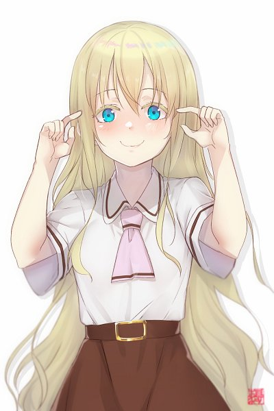 Tags: Anime, Pixiv Id 267412, Asobi Asobase, Olivia (Asobi Asobase), Wavy Mouth, Fanart From Pixiv, Pixiv, Fanart
