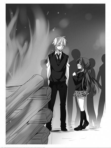 Tags: Anime, Anapom, Omae wo Otaku ni Shiteyaru kara Ore wo Riajuu ni Shitekure!, Suzuki Souta, Koigasaki Momo, Novel Illustration, Official Art