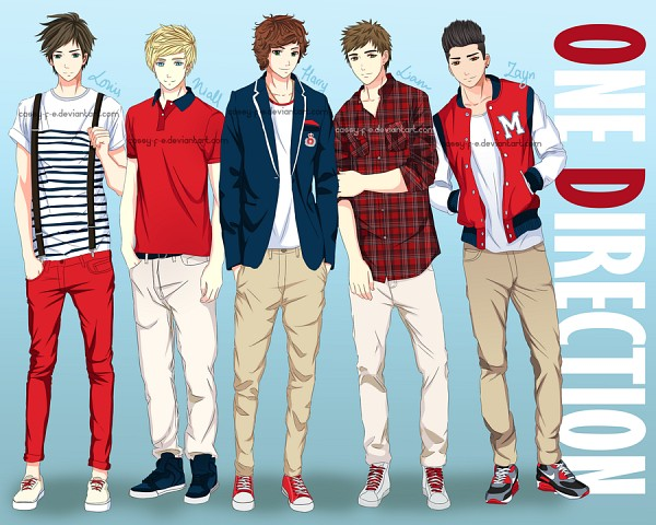 Tags: Anime, Cassy-F-E, Louis Tomlinson, Liam Payne, Niall Horan, Harry Styles, Zayn Malik, Converse, Red Pants, One Direction