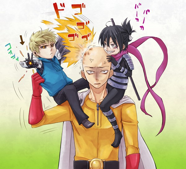 Tags: Anime, Pixiv Id 368471, One Punch Man, Speed-o'-Sound Sonic, Saitama (One Punch Man), Genos (One Punch Man), Fanart From Pixiv, Pixiv, Fanart