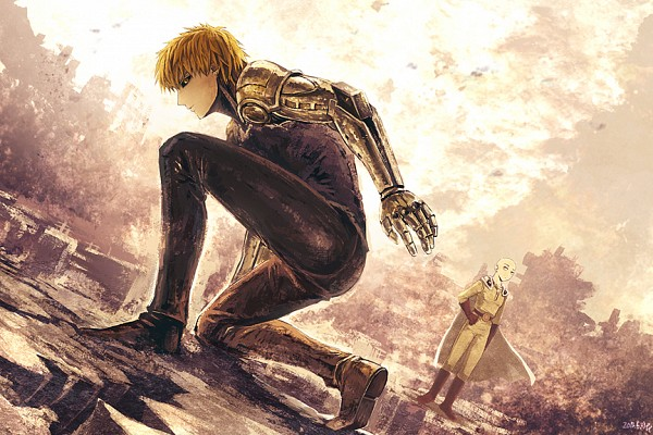 Tags: Anime, Pixiv Id 340793, One Punch Man, Genos (One Punch Man), Saitama (One Punch Man), Fanart, Fanart From Pixiv, Pixiv