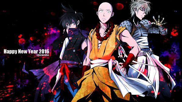 Tags: Anime, Pixiv Id 8134954, One Punch Man, Saitama (One Punch Man), Genos (One Punch Man), Speed-o'-Sound Sonic, Pixiv, Wallpaper, Fanart, Fanart From Pixiv