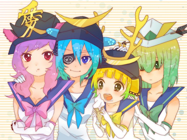 Tags: Anime, Eito, Onegai! Ranking, Onegai Blue, Onegai Pink, Onegai Green, Onegai Yellow, Fanart, Fanart From Pixiv, Pixiv