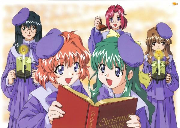 Tags: Anime, Onegai ☆ Twins, Onodera Karen, Morino Ichigo, Tsubaki Oribe, Miyafuji Miina, Kazami Mizuho, Choir, Official Art