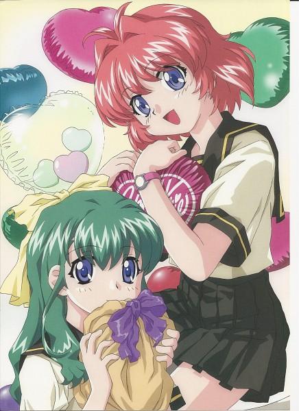 Tags: Anime, Bandai Visual, Onegai ☆ Twins, Miyafuji Miina, Onodera Karen, Self Scanned, Scan
