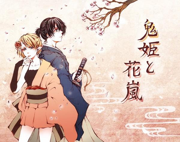 Tags: Anime, Fuu (Goingmyway421), VOCALOID, Kagamine Len, Kagamine Rin, Onihime to Hanaarashi, Pixiv, Kagamine Mirrors