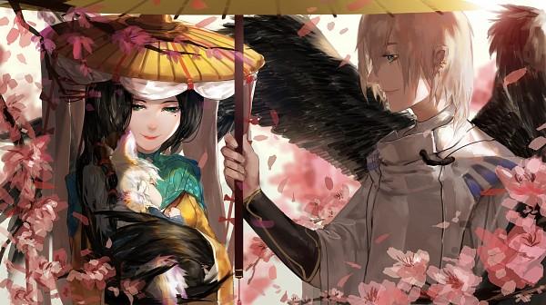 Tags: Anime, Ai Mo Amor, Onmyouji (NetEase), Ootengu (Onmyoji), Ubume (Onmyouji), Onmyouji, Bird Person, Wallpaper, Fanart, Fanart From Pixiv, Pixiv