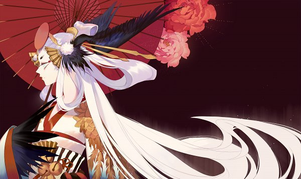 Tags: Anime, DAdonikaaaaaa, Onmyouji (NetEase), Ubume (Onmyouji), Bird Person, Fanart From Pixiv, Pixiv, Facebook Cover, Original, Fanart
