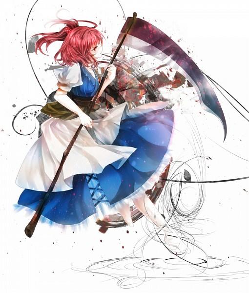 Tags: Anime, Silentdin, Touhou, Onozuka Komachi, Fanart, Pixiv, Komachi Onozuka