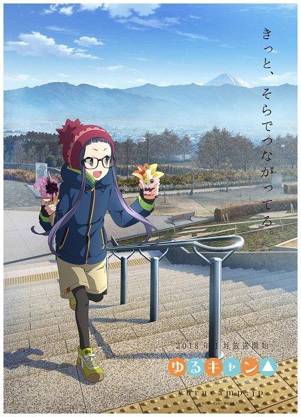 Tags: Anime, Sasaki Mutsumi (Bee Train), C-Station, Yuru Camp, Oogaki Chiaki, Official Art