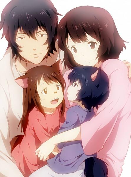 Tags: Anime, Punchiki, Ookami Kodomo no Ame to Yuki, Ookami Otoko, Ame (Ookami Kodomo), Yuki (Ookami Kodomo), Hana (Ookami Kodomo), Fanart From Pixiv, Pixiv, Fanart, The Wolf Children Ame And Yuki