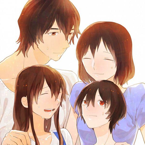 Tags: Anime, Momose (oqo), Ookami Kodomo no Ame to Yuki, Hana (Ookami Kodomo), Ookami Otoko, Ame (Ookami Kodomo), Yuki (Ookami Kodomo), Fanart, Pixiv, The Wolf Children Ame And Yuki