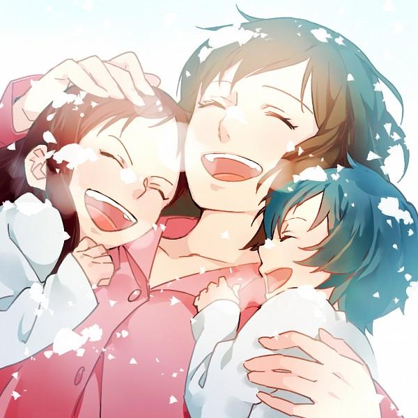 Tags: Anime, Kazari Tayu, Ookami Kodomo no Ame to Yuki, Ame (Ookami Kodomo), Yuki (Ookami Kodomo), Hana (Ookami Kodomo), Fanart From Pixiv, Pixiv, Fanart, The Wolf Children Ame And Yuki