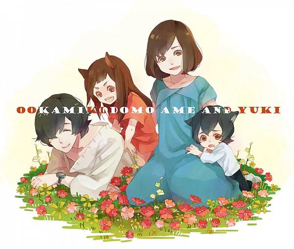 Tags: Anime, Anzu (astro75), Ookami Kodomo no Ame to Yuki, Ame (Ookami Kodomo), Yuki (Ookami Kodomo), Hana (Ookami Kodomo), Ookami Otoko, Pixiv, Fanart, Fanart From Pixiv, The Wolf Children Ame And Yuki